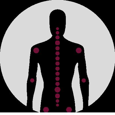 Icon mit skizzierten Händen welches die therapeutische Arbeit symbolisieren soll